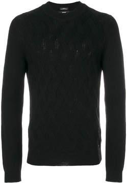 HUGO BOSS textured knit sweater