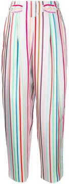 Emporio Armani striped printed loose trousers