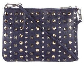 Rebecca Minkoff Studded Leather Crossbody Bag - BLUE - STYLE