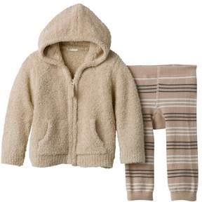Cuddl Duds Baby Boy Hoodie & Striped Pants Set