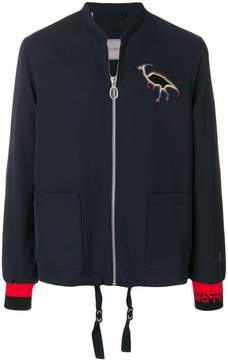 Lanvin embroidered zipped jacket