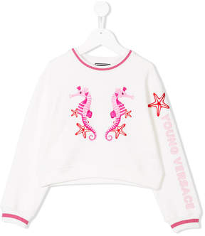 Versace embroidered seahorse sweater