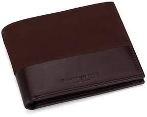 Aspinal of London | Shadow Billfold Wallet In Brown Nubuck | Chocolate brown nubuck
