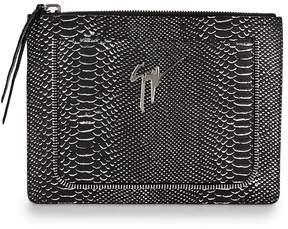 Giuseppe Zanotti Men's Printed Leather Pouch