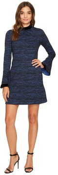 Donna Morgan Arielle Sheath Dress w/ Velvet Neckline and Cuff Women's Dress