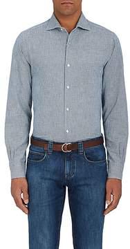 Loro Piana Men's Alain Houndstooth Cotton Shirt