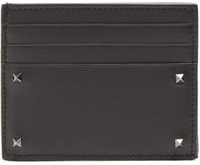 Valentino Micro Rockstud leather cardholder