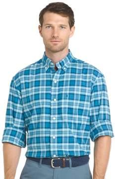 Izod Big & Tall Regular-Fit Plaid Stretch Button-Down Shirt