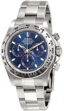 Rolex Cosmograph Daytona Blue Dial 18K White Gold Oyster Men's Watch