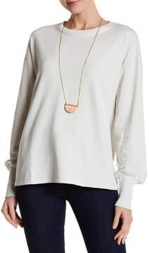 Caslon Back Lace-Up Sweatshirt