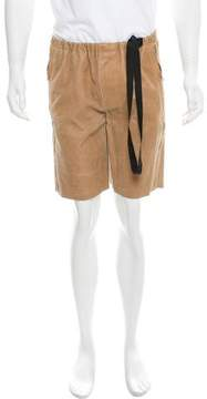 3.1 Phillip Lim Distressed Leather Shorts