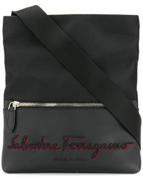 Salvatore Ferragamo embroidered logo messenger bag