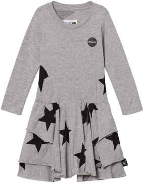 Nununu Heather Grey Layered Star Dress