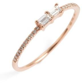 Bony Levy Women's Double Baguette Diamond Ring (Nordstrom Exclusive)