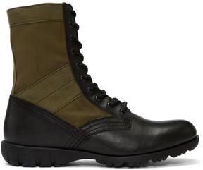 Diesel Green D-24x7 Boots