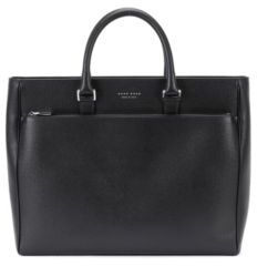 Hugo Boss Signature Tote Palmellato Leather Tote One Size Black