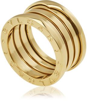 Bvlgari B.Zero1 18K Yellow Gold 4-Band Ring Size 7.75