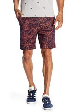 Sovereign Code Sitcom Leaf Print Shorts