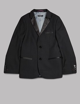 Marks and Spencer Notch Lapel 2 Button Jacket (5-14 Years)