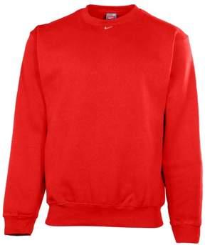 Nike Men's Team Crew Neck Fleece Pullover Sweatshirt-Scarlet-Small