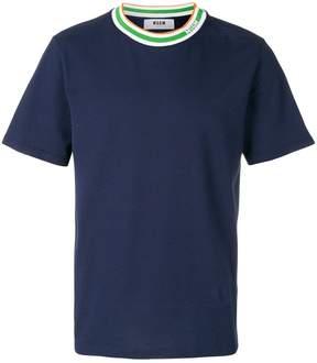 MSGM contrast neckline T-shirt