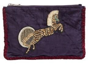 Steve Madden Embellished Clutch - Purple