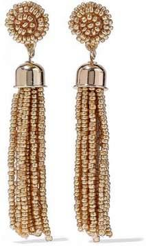 Kenneth Jay Lane Gold-Tone Beaded Tassel Earrings