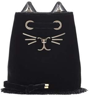 Charlotte Olympia Feline Petit velvet bucket bag