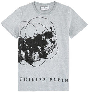 Philipp Plein Graphic T-shirt with rhinestones - Dacio Reddy
