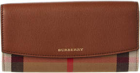 Burberry Porter House Check & Leather Continental Wallet - ONE COLOR - STYLE
