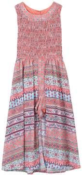 Speechless Girls 7-16 Smocked Patterned Walkthrough Dress