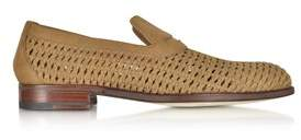 a. testoni A.Testoni A.testoni Men's Beige Leather Loafers.