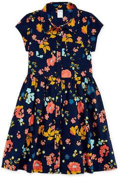 Arizona Short Sleeve Cap Sleeve Shirt Dress Girls