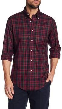 Brooks Brothers Twill Holiday Tartan Regular Fit Shirt