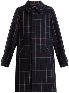 A.P.C. Dinard checked cotton-blend twill coat