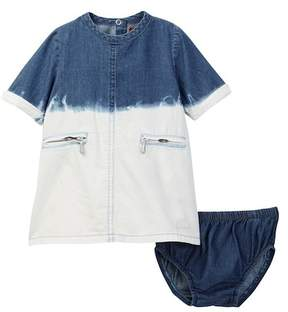7 For All Mankind Dress & Bloomer Set (Baby Girls 0-9M)
