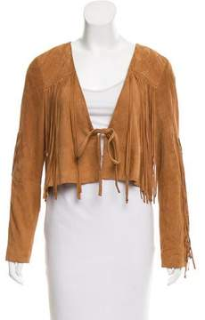 Camilla Suede Leather Cropped Jacket w/ Tags