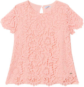 Mayoral Pink Lace Top