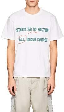 Sacai Men's Stasis As To Vector Cotton T-Shirt