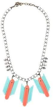 Dannijo Resin & Crystal Collar Necklace