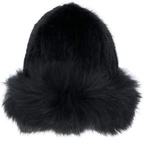 Yves Salomon fur beanie hat