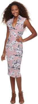 Almost Famous Juniors' Floral Bodycon Dress
