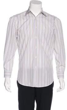 Luciano Barbera Striped Woven Shirt