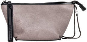Christopher Kon Taupe After Party Leather Crossbody Bag