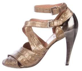 Alaia Embossed Multistrap Sandals