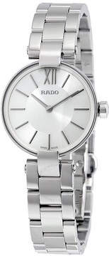 Rado Coupole Silver Dial Stainless Steel Ladies Watch