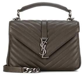 Saint Laurent Collège Monogram Medium matelassé leather shoulder bag