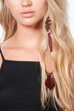 boohoo Jennifer Feather & Chain Hair Clip