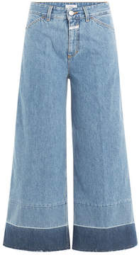 Closed Contrast Cuff Denim Culottes