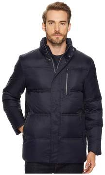 Cole Haan 32 Zip Front Packable To Travel Pillow with Fleece Trim Quilted Jacket Men's Coat